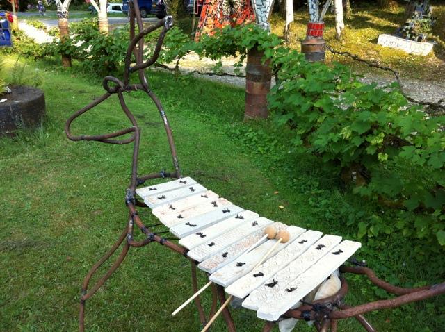 D coration de jardin art d co sculpture musicale for Ane decoration jardin