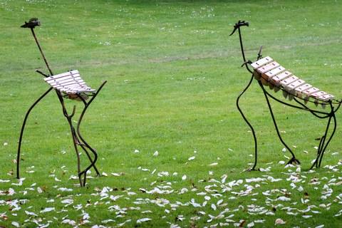 d coration de jardin art d co sculpture musicale forme animal art primitif. Black Bedroom Furniture Sets. Home Design Ideas