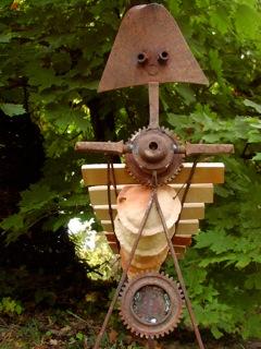 D coration de jardin sculpture musicale totem percussion for Salon de jardin totem