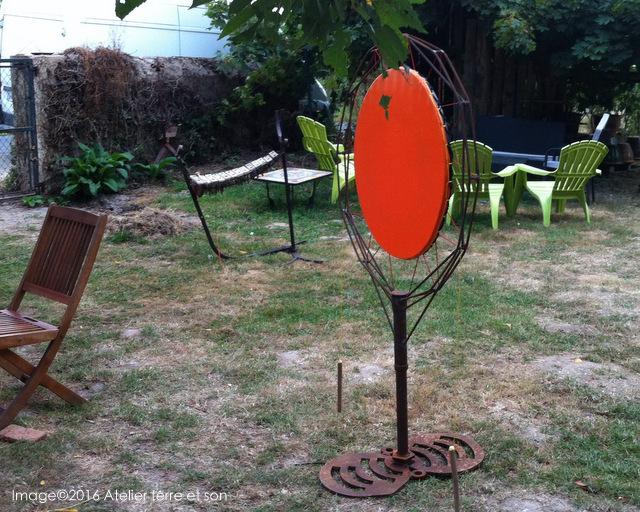 Structures musicales d 39 ext rieur - Sculpture metal jardin ...