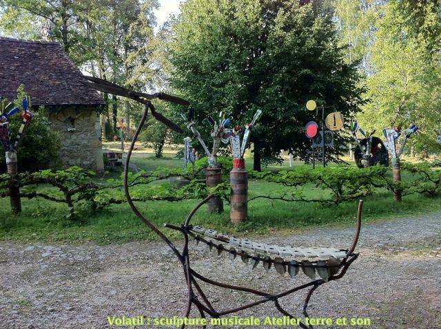 Décoration De Jardin Sculpture Musicale Dextérieur Forme Animal