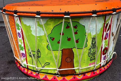 Bien-aimé fabrication d'instruments : les gros tambours en métal de recyclage HZ11